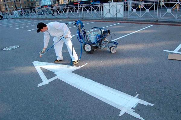 Современная разметка парковочного пространства
